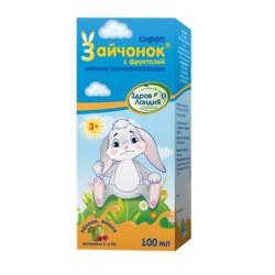 Сироп для детей, 100 мл зайчонок успокаивающий с сахаром